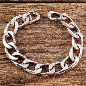 Jewelry - Sterling Silver Heavy Curb Chain Bracelet